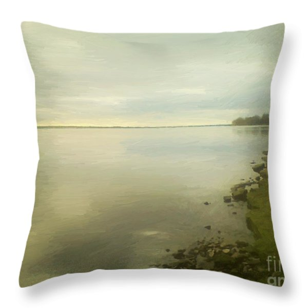 Sunset Before The Storm Throw Pillow by RC DeWinter