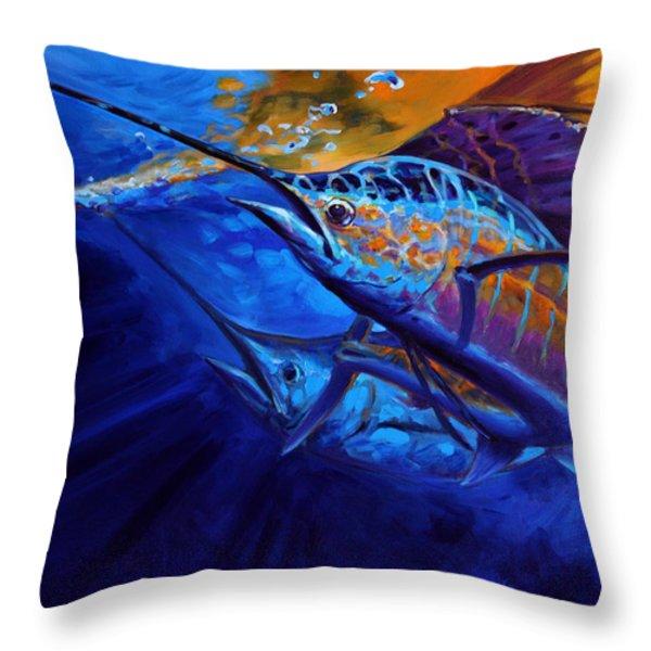 Sunset Bite Throw Pillow by Mike Savlen