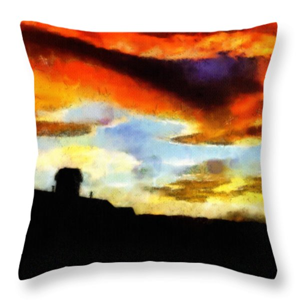 Sunset Colours Throw Pillow by Ayse Deniz