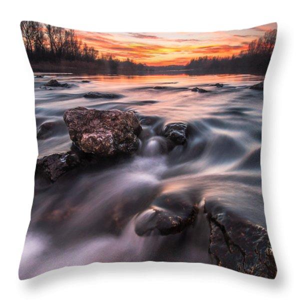 Sunset Throw Pillow by Davorin Mance