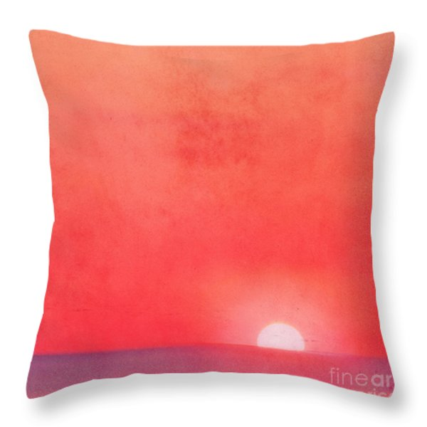 Sunset Impression Throw Pillow by Angela Doelling AD DESIGN Photo and PhotoArt