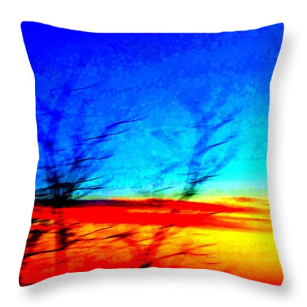 sunset in Oslo Throw Pillow by Hilde Widerberg