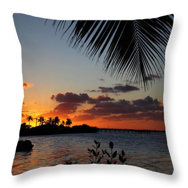 Sunset In Paradise Throw Pillow by Michelle Wiarda