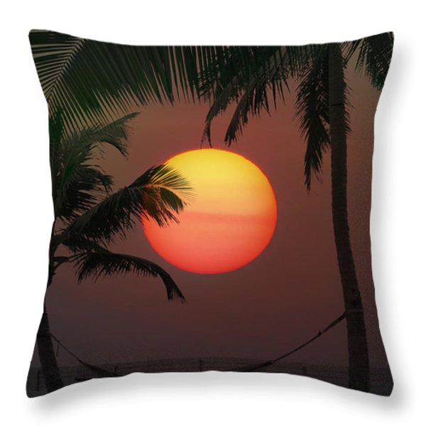 Sunset In The Keys Throw Pillow by Bill Cannon