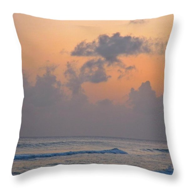 Sunset In The Tropics Throw Pillow by John Malone