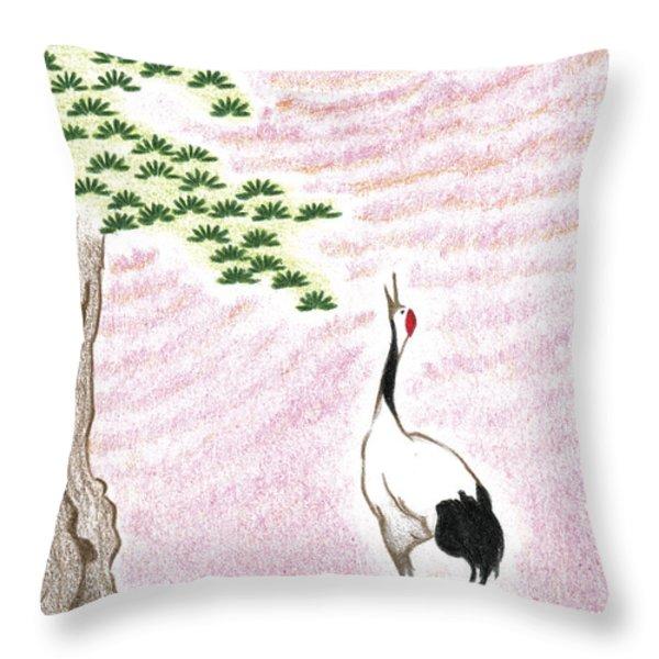 Sunset Throw Pillow by Keiko Katsuta