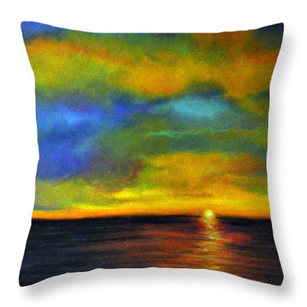 Sunset Throw Pillow by Lenore Gaudet