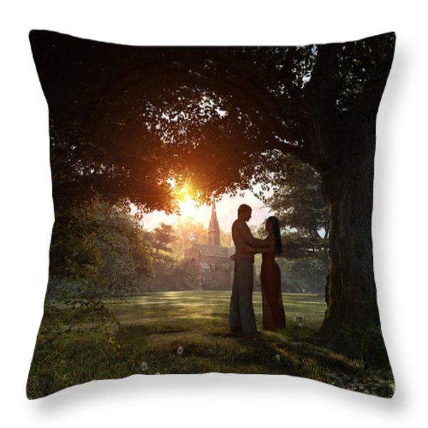 Sunset Lovers Throw Pillow by Dominic Davison
