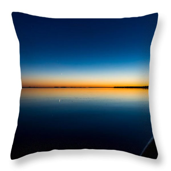 Sunset On Lake Milacs Throw Pillow by Paul Freidlund