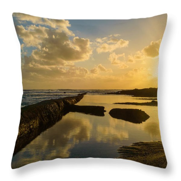 Sunset Over The Ocean II Throw Pillow by Marco Oliveira
