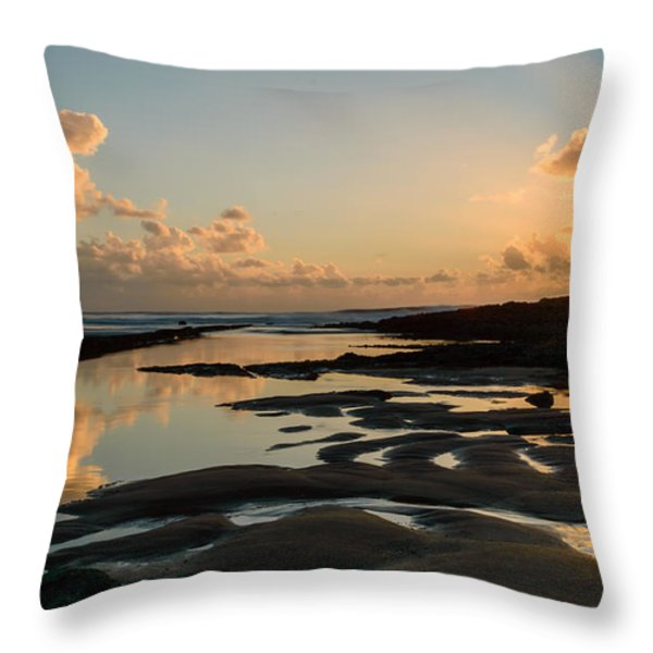 Sunset Over The Ocean IIi Throw Pillow by Marco Oliveira