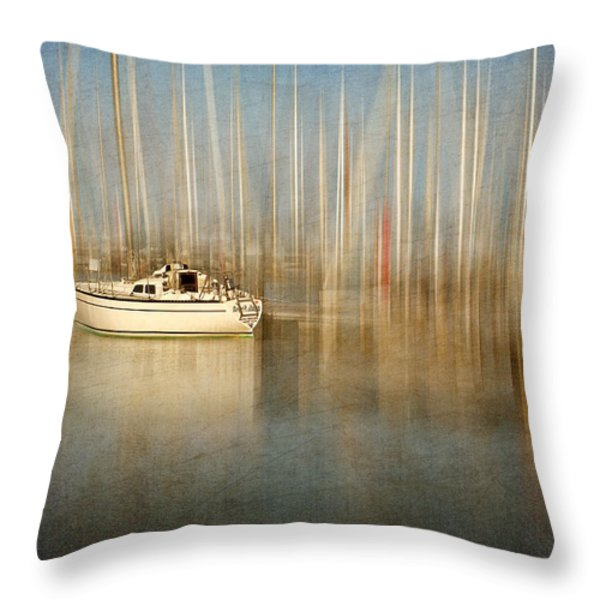 Sunset Sail Throw Pillow by Amy Weiss