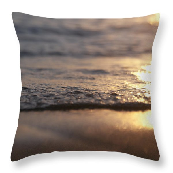 Sunset Shore Throw Pillow by Brandon Tabiolo
