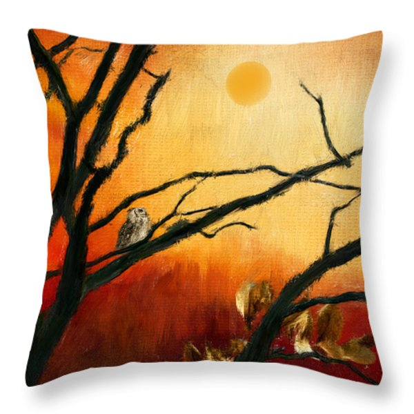 Sunset Sitting Throw Pillow by Lourry Legarde
