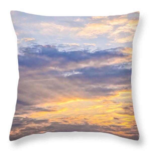 Sunset Sky Throw Pillow by Elena Elisseeva