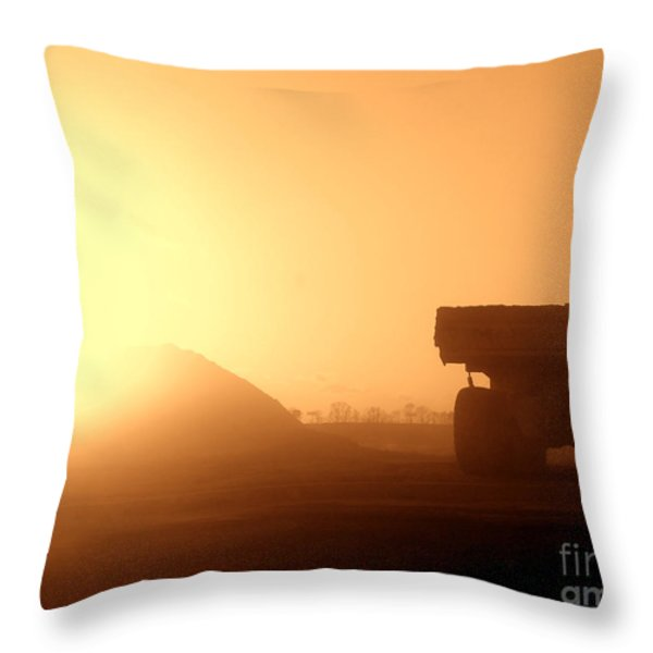 Sunset Truck Throw Pillow by Olivier Le Queinec