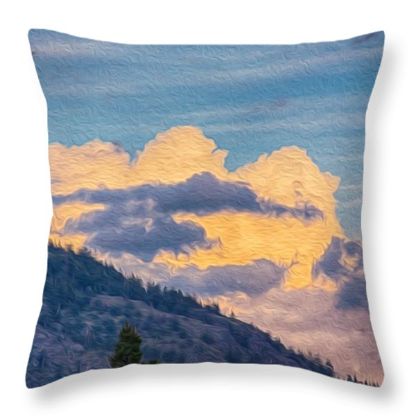 Sunset With A Smile Throw Pillow by Omaste Witkowski