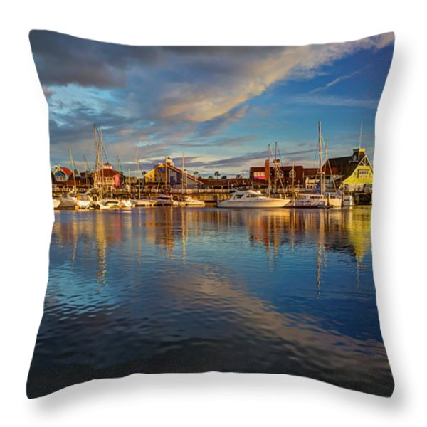 Sunset's Warm Glow Throw Pillow by Heidi Smith
