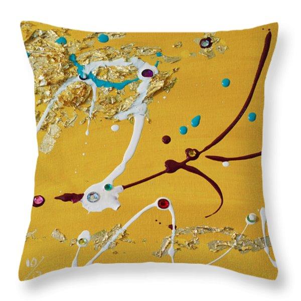 Sunshine and Rain Throw Pillow by Donna Blackhall