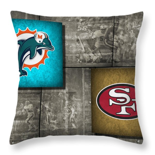 Super Bowl 19 Throw Pillow by Joe Hamilton
