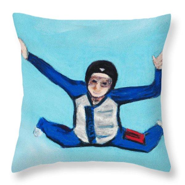 Super Kid Throw Pillow by Anastasiya Malakhova