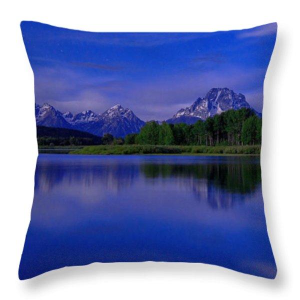 Super Moon Throw Pillow by Chad Dutson