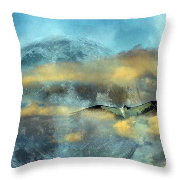 Super Moon Ensemble  Throw Pillow by Betsy A  Cutler