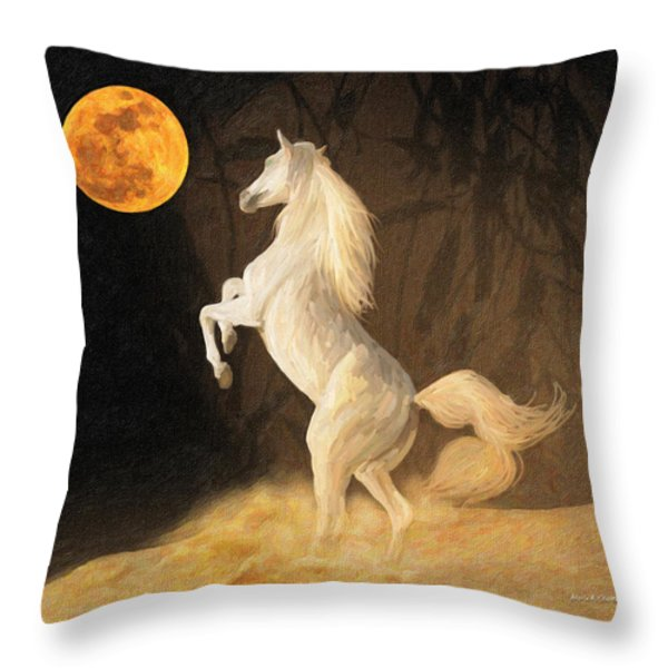 Super Moonstruck Throw Pillow by Angela A Stanton