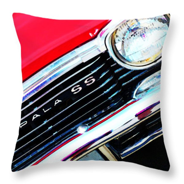 Super Sport 2 - Chevy Impala Classic Car Throw Pillow by Sharon Cummings