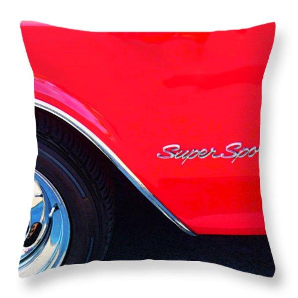 Super Sport - Chevy Impala Classic Car Throw Pillow by Sharon Cummings