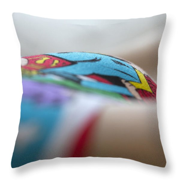 Supergirl Throw Pillow by David Hare