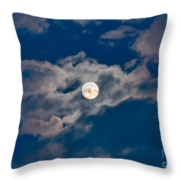Supermoon Throw Pillow by Robert Bales