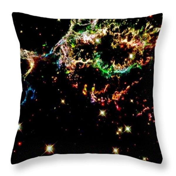 Supernova Remnant Cassiopeia A Throw Pillow by Amanda Struz