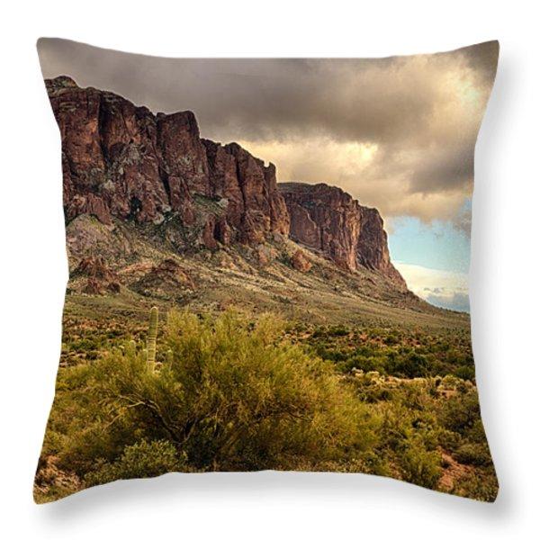 Superstition Mountains Throw Pillow by Saija  Lehtonen