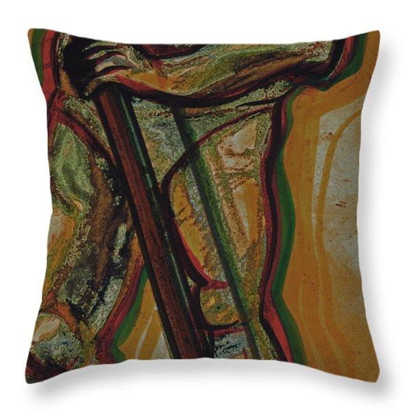 Support Throw Pillow by First Star Art