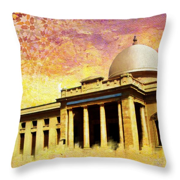 Supreme Court Karachi Throw Pillow by Catf