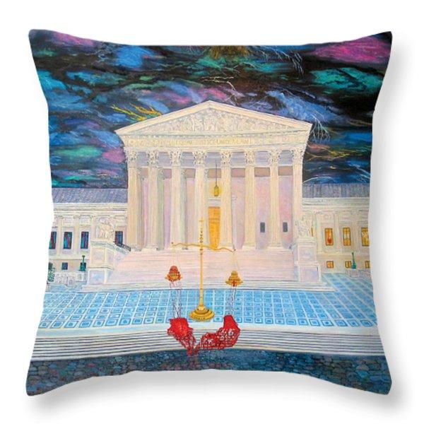 Supreme Court Throw Pillow by Mike De Lorenzo