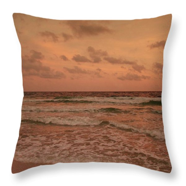 Surf - Florida Throw Pillow by Sandy Keeton