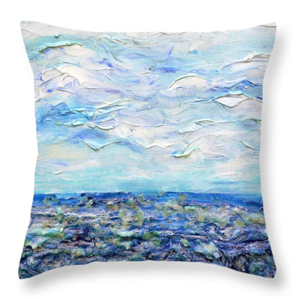 surf study Throw Pillow by Regina Valluzzi