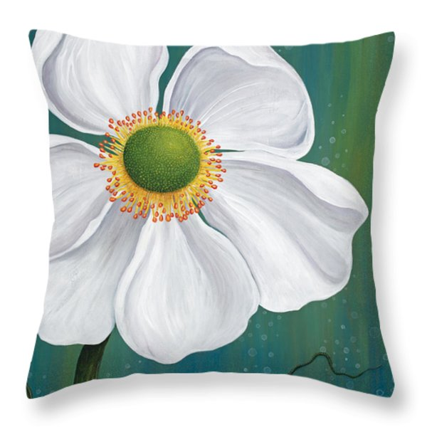 Surfacing Throw Pillow by Tanielle Childers