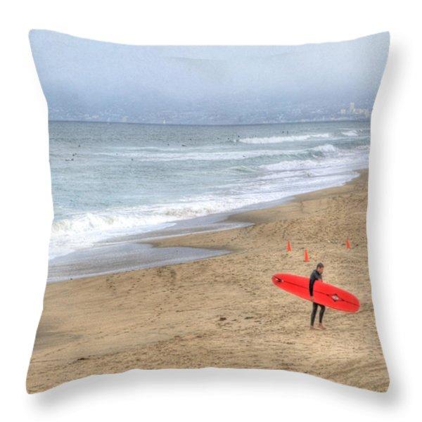 Surfer Boy Throw Pillow by Juli Scalzi