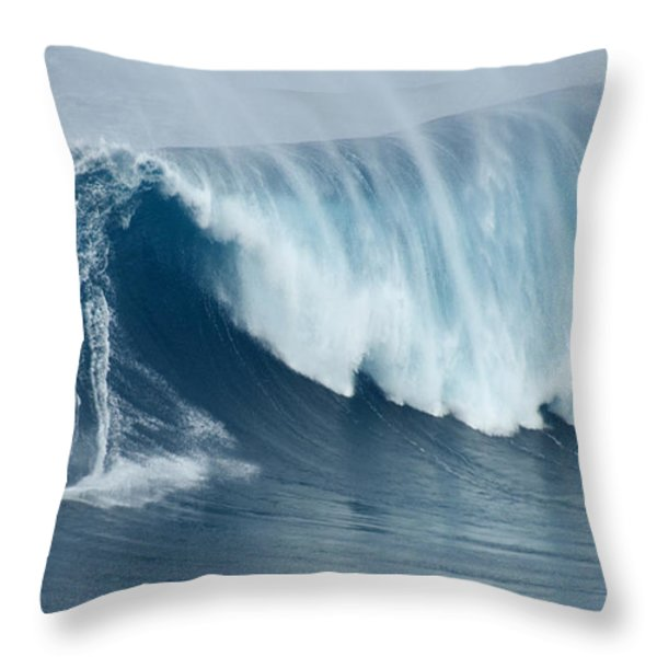 Surfing Jaws 5 Throw Pillow by Bob Christopher