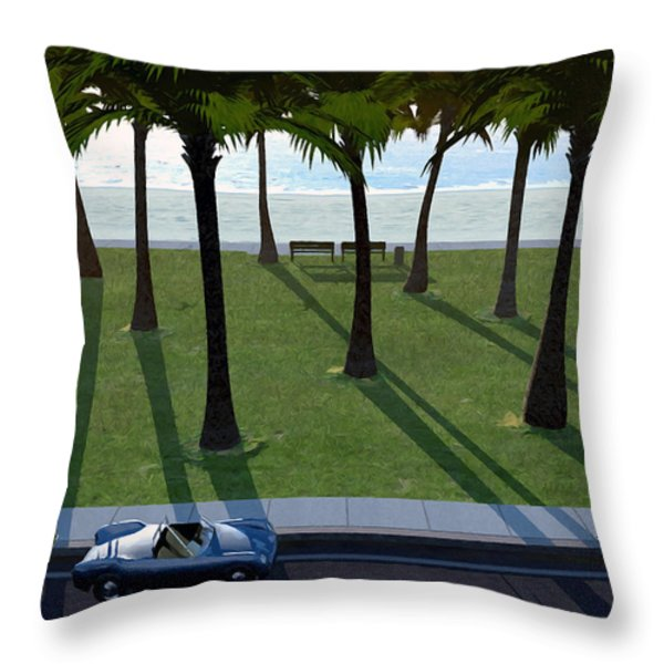 Surfside Throw Pillow by Cynthia Decker