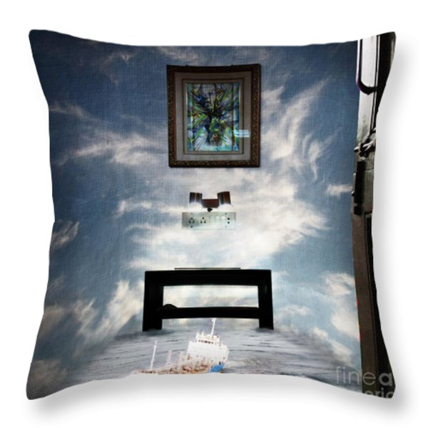 Surreal Living Room Throw Pillow by Laxmikant Chaware