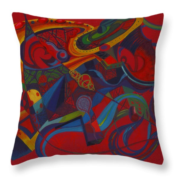 Surreal Medieval Weaponry Throw Pillow by Shawna  Rowe