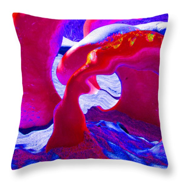 Surreal Sea Serpent Throw Pillow by Art Block Collections