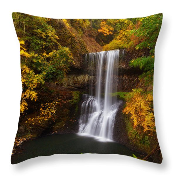 Surrounded By Fall Throw Pillow by Darren  White