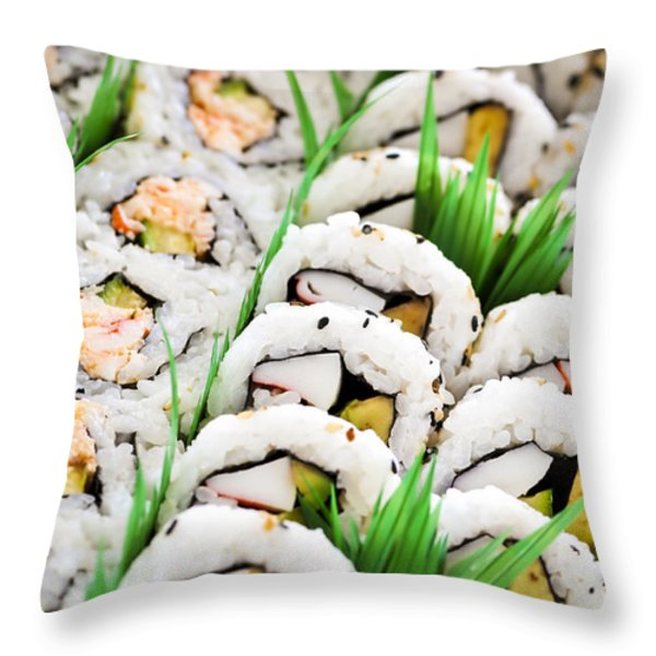 Sushi Platter Throw Pillow by Elena Elisseeva