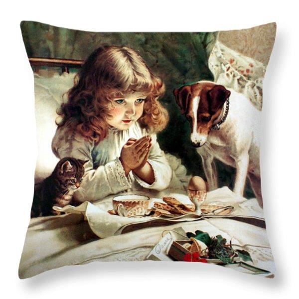 Suspense Throw Pillow by Charles Burton Barber