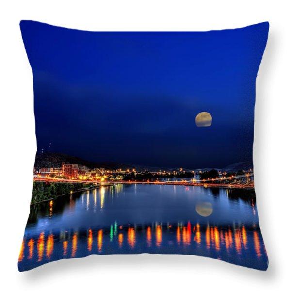 Suspension bridge Throw Pillow by Dan Friend